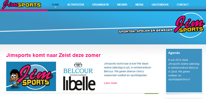 Website – jimsports.nl